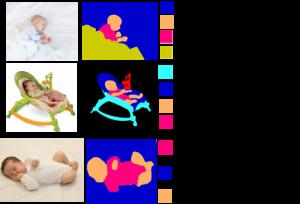 Illustration of colored input infant images